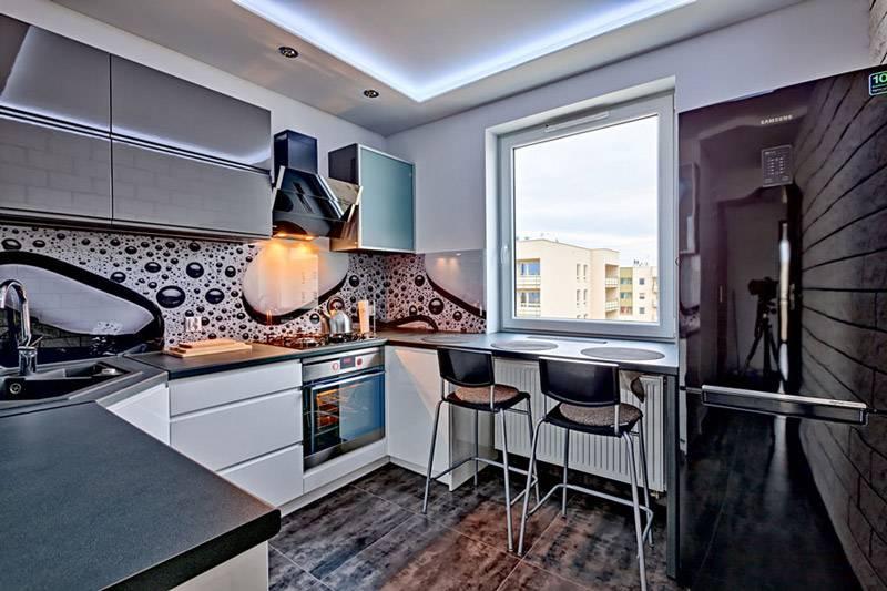 Полезные приёмы в дизайне узкой кухни + 115 лучших идей в фото