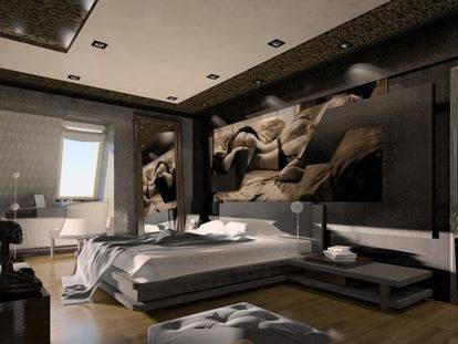 Интерьер и дизайн мужской комнаты   30 идей оформления спальной комнаты