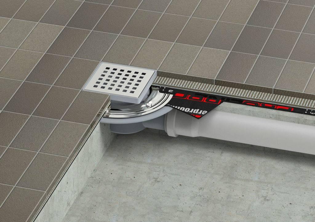 Трап для душа в полу под плитку — современное решение для ванной комнаты
