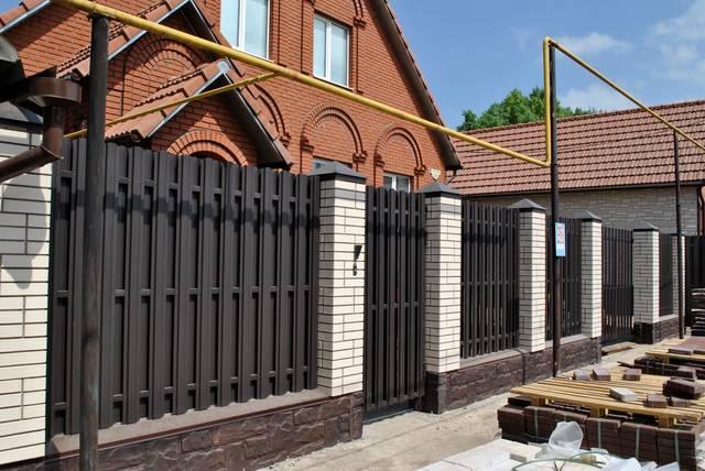 Заборы из металлического штакетника в солнечногорске под ключ: цены, характеристики, фото расчет стоимости строительства