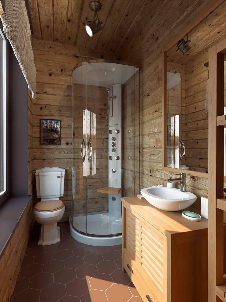 Как сделать ванную комнату в деревянном доме: возможности, ограничения и технологии