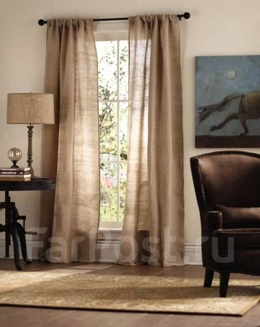 Льняные шторы в интерьере: фото 30+ идей оформления - арт интерьер