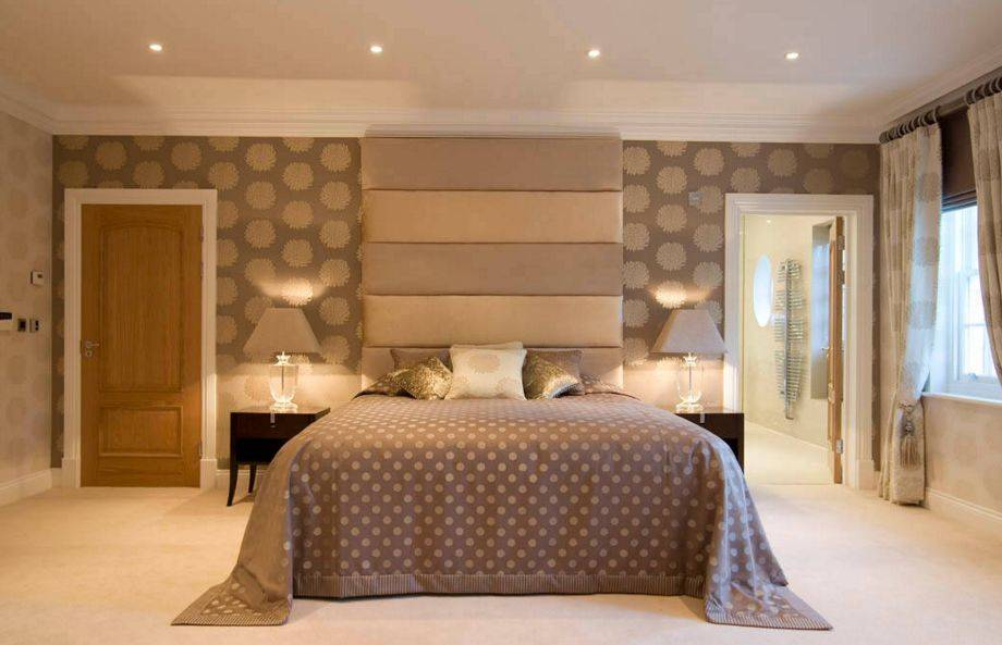 Комбинирование обоев в спальне: 145 примеров оформления и дизайна с фото, советы по выбору комбинированных обоев