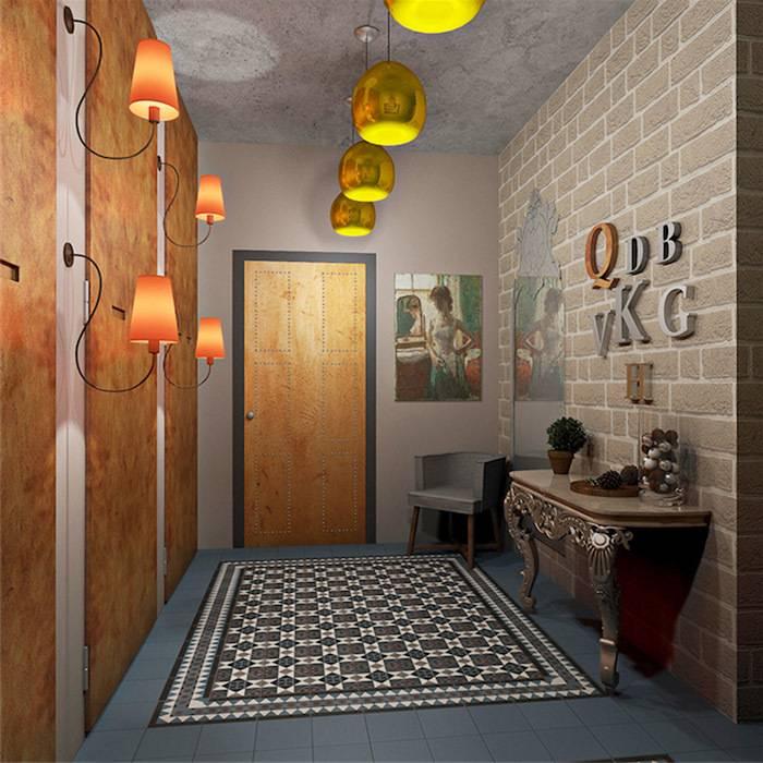Прихожая в стиле лофт (76 фото): вешалка и мебель в интерьере маленького коридора, дизайн прихожей с кирпичной стеной, выбираем банкетки и шкафы