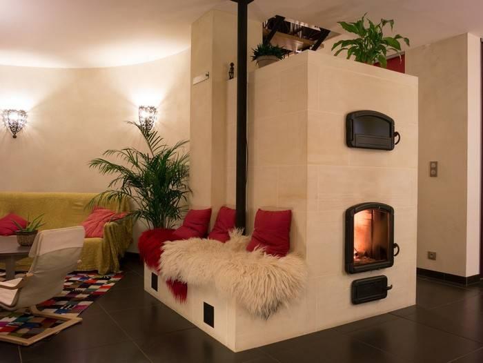 Русская печь в интерьере современного частного дома — 25 фото