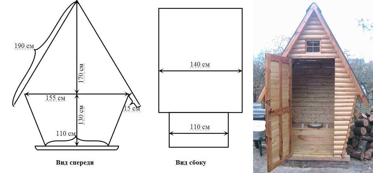 Туалет для дачи своими руками: чертежи, размеры, пошаговая инструкция