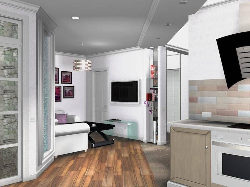 Дизайн однокомнатной квартиры площадью 30 кв. м без перепланировки