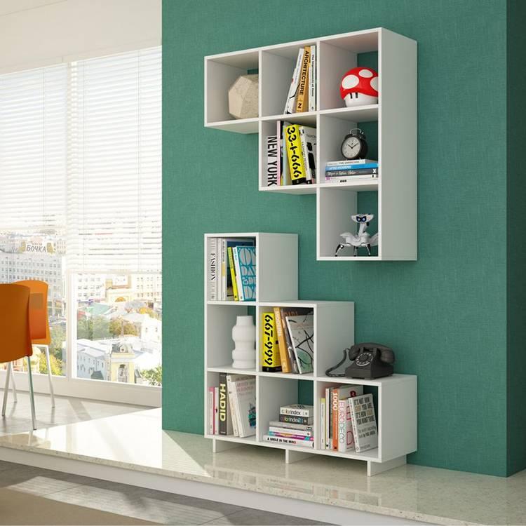 Настенные полки для книг: виды, дизайн, фото идеи, советы по выбору