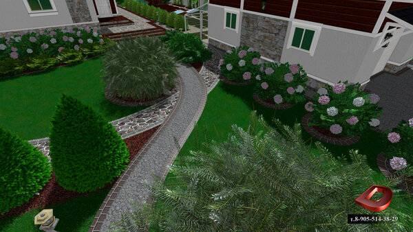 Планировка участка загородного дома 12 соток: схема, варианты ландшафтного дизайна, примеры проектов с домом, баней и гаражом  - 22 фото
