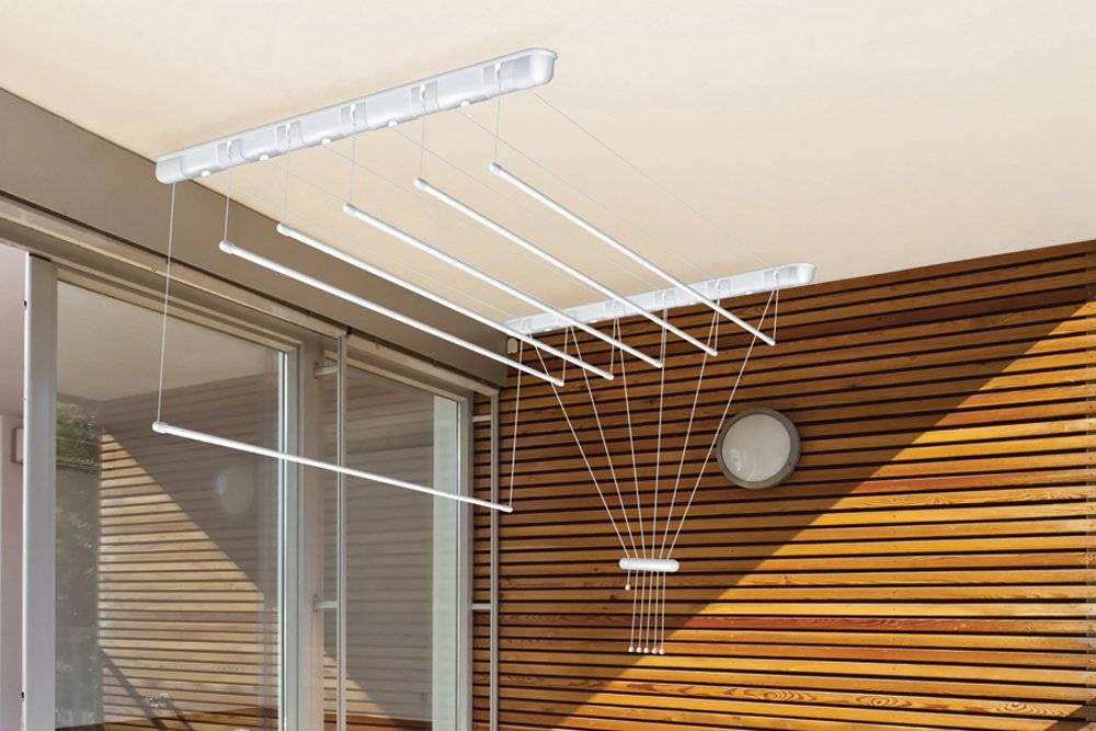 Сушилка для белья на балкон: топ 30 моделей - потолочные, настенные, наружные