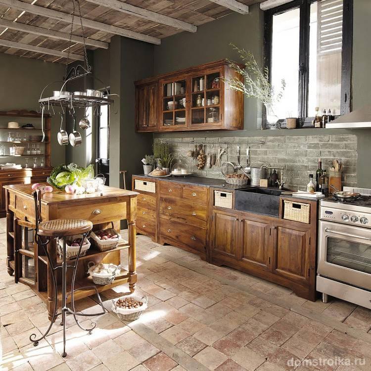 Дизайн кухни в стиле кантри — фото реальных интерьеров и советы
