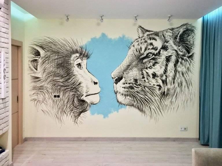 Что можно нарисовать на стене в комнате легко и креативно для начинающих