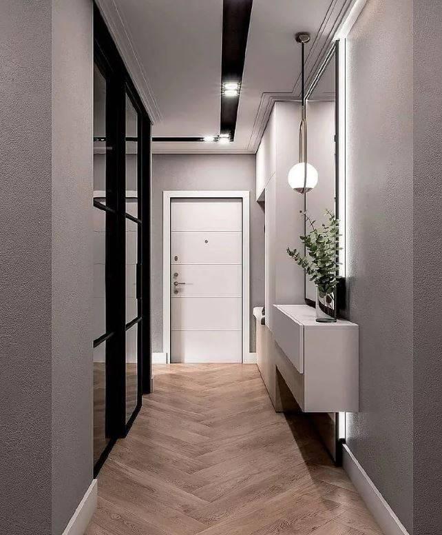 Интересные примеры дизайна коридоров в квартирах