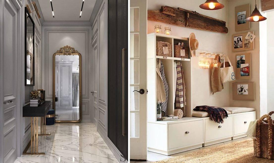 Прихожая-гостиная: дизайн, выбор стиля и материалов для отделки