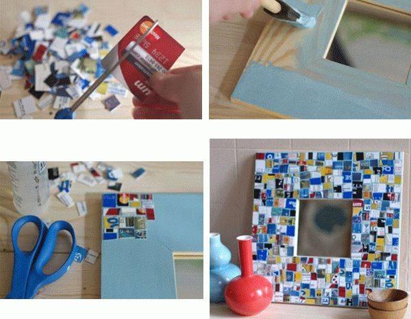 Рамка своими руками — варианты создания красивого украшения из подручных материалов (90 фото и видео)