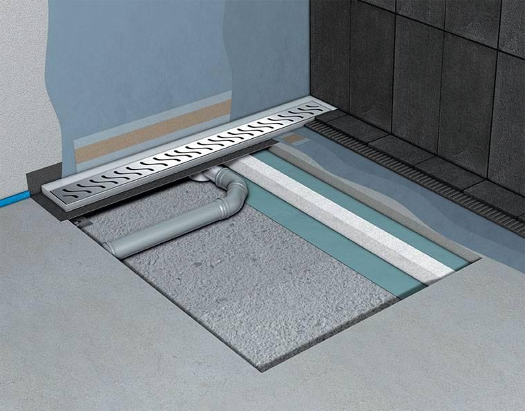 Как сделать трап для душа в полу под плитку - все этапы работ
