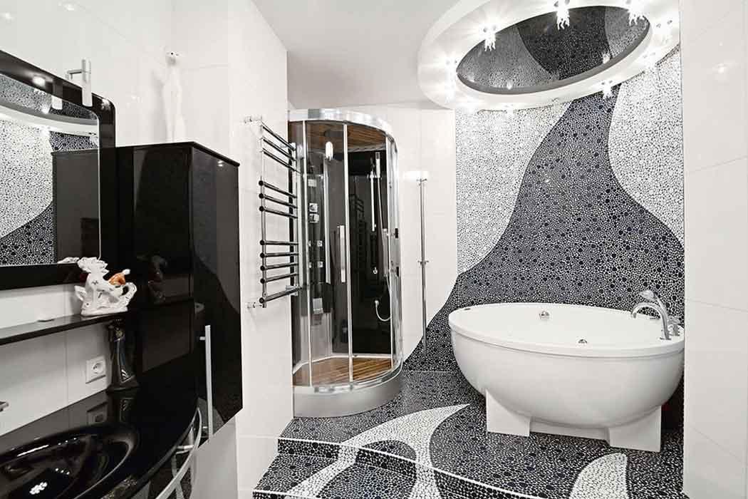 70 идей мозаики в ванную комнату: когда дизайн интерьера становится произведением искусства (фото)
