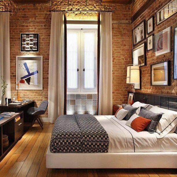 Дизайна интерьера комнат квартиры с кирпичными стенами в разных стилях