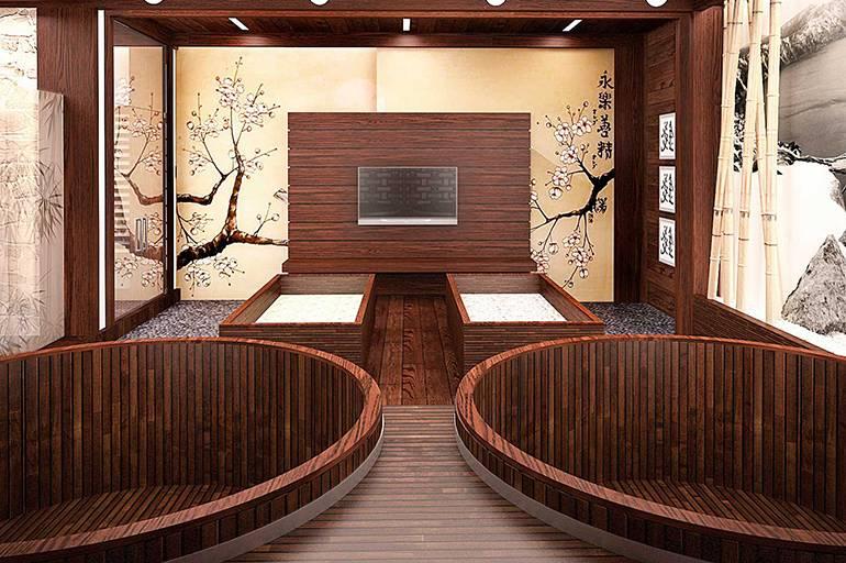 Дизайн ванной в японском стиле — виды ванн