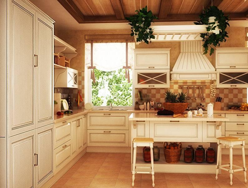 Уютная кухня в стиле кантри: 100+ примеров аутентичного дизайна