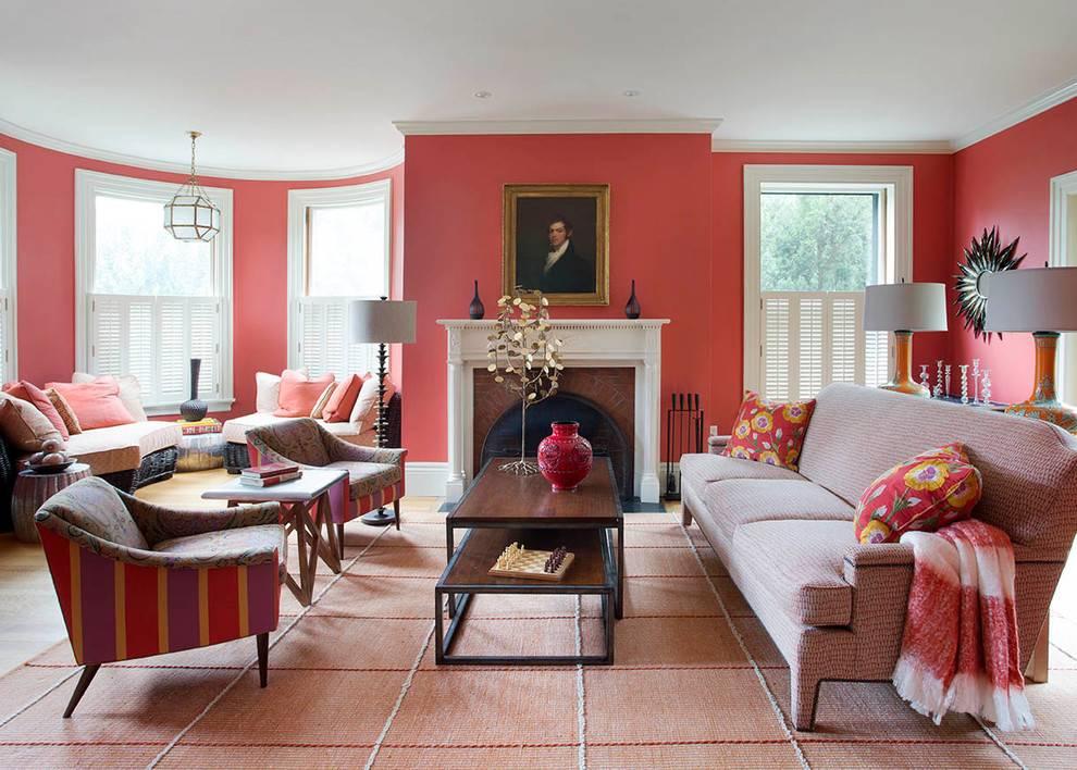 Оформление интерьера в розовом цвете: 75 лучших фото и идей дизайна