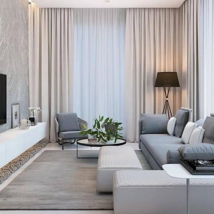 Новинки дизайна интерьера гостиной 2020 года - отделка потолков, стен и полов. выбор мебели и освещения. цветовые решения при дизайне гостиной (фото + видео)