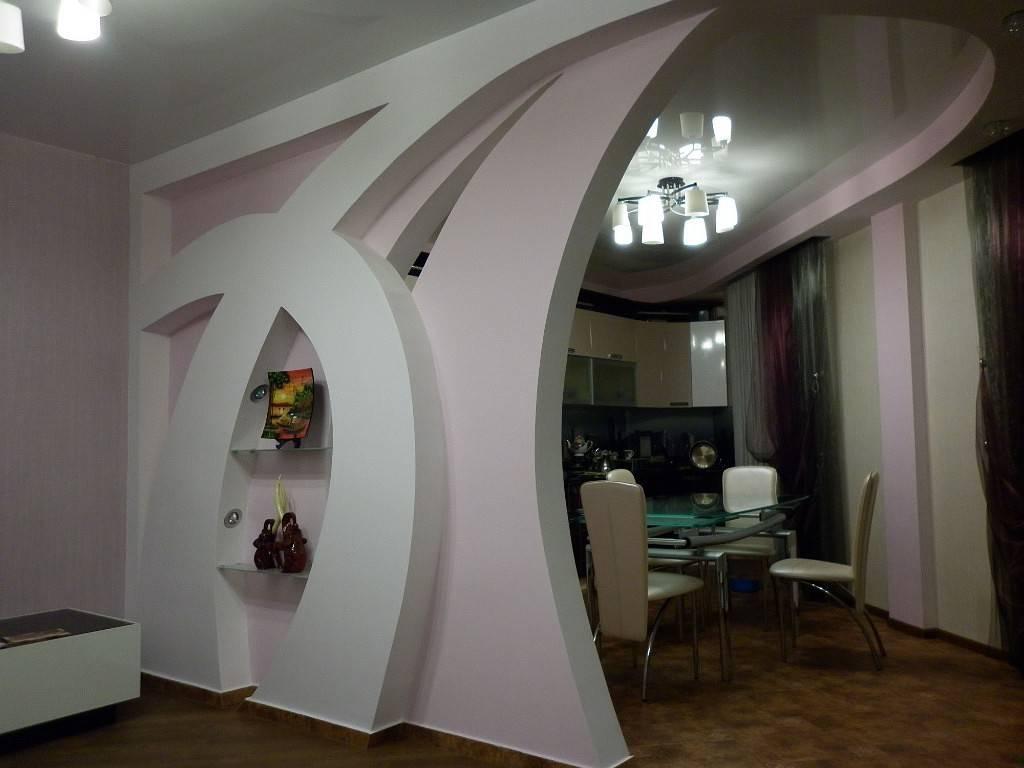 Отделка гостиной гипсокартоном — актуальные дизайнерские решения в отделке стен и потолка