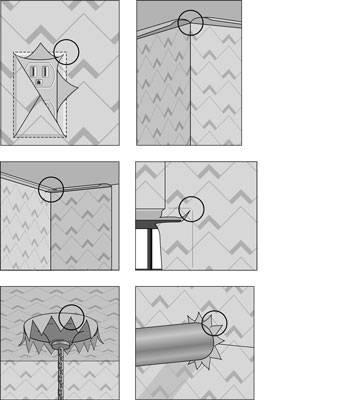 Рекомендации по приклеиванию обоев в углах комнаты: как клеить правильно