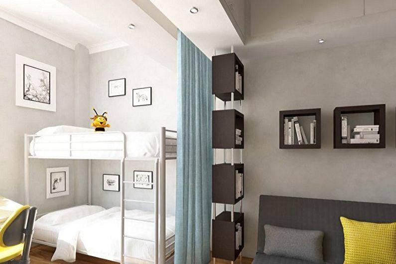 Как разделить комнату на две зоны: варианты зонирования