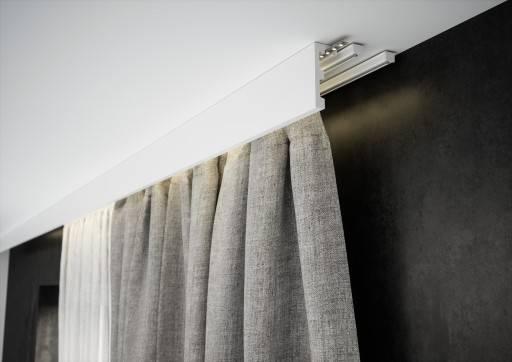 Карниз для штор под натяжной потолок: советы по выбору и монтажу