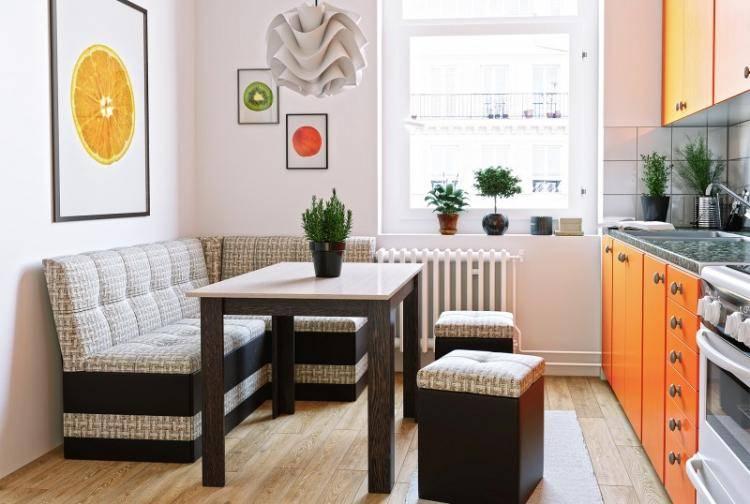 Спальное место на кухне (37 фото): как сделать дизайн с кроватью на маленькой кухне? как выделить и организовать зону для мягкой мебели?