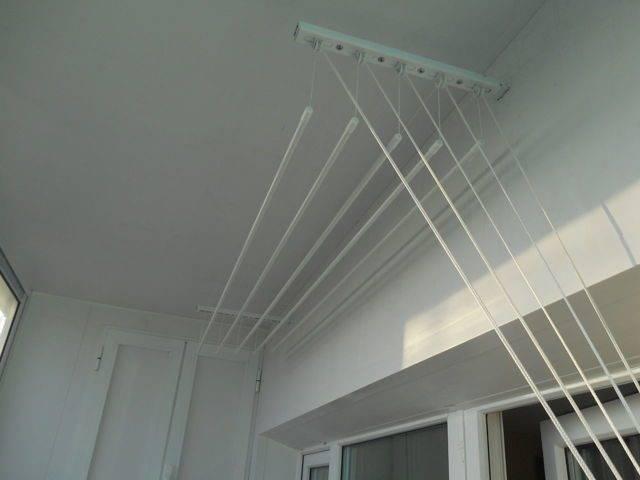 Потолочная сушилка для белья на балкон: преимущества перед другими моделями – советы по ремонту