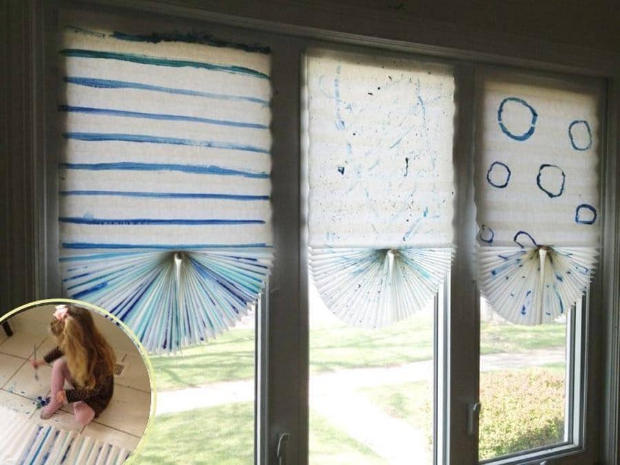 Жалюзи из обоев (31 фото): как сделать самому на пластиковые окна