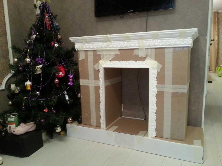 Фальш камин, декоративный: имитация камина в интерьере гостиной, как его сделать и украсить - 19 фото