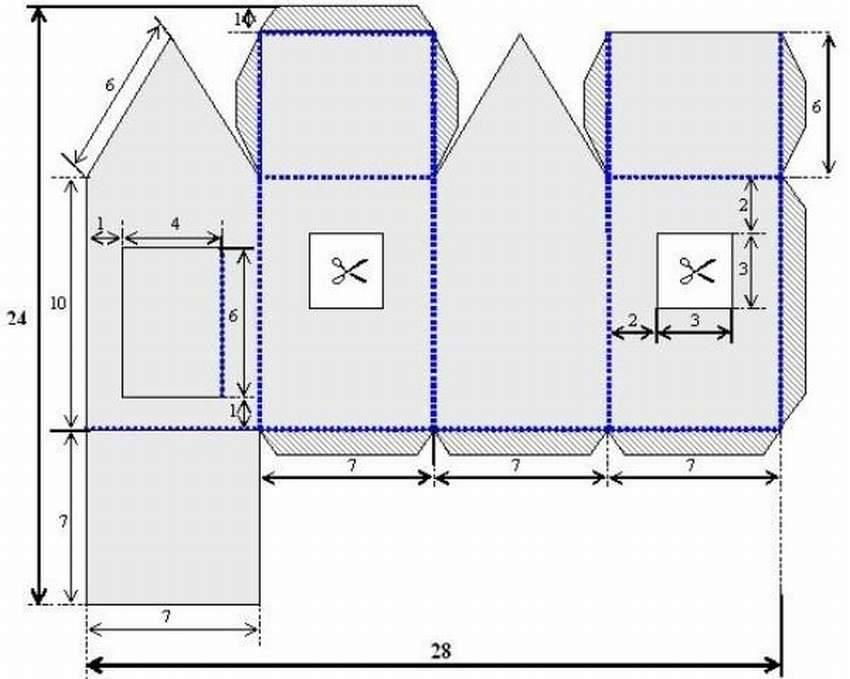 Дома оригами. схемы, пошаговые фото, инструкции