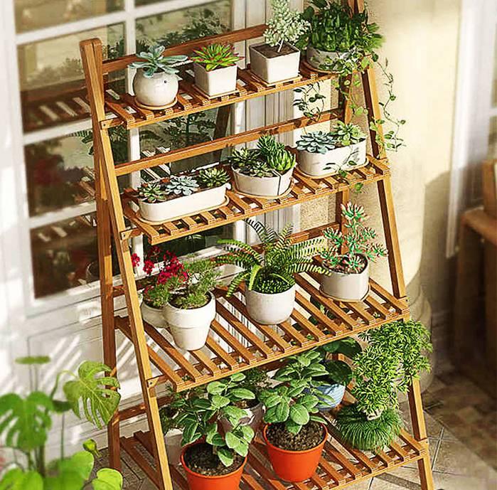 Подставка для цветов своими руками из дерева, металла для квартиры, дачного участка и сада (108 фото идей)
