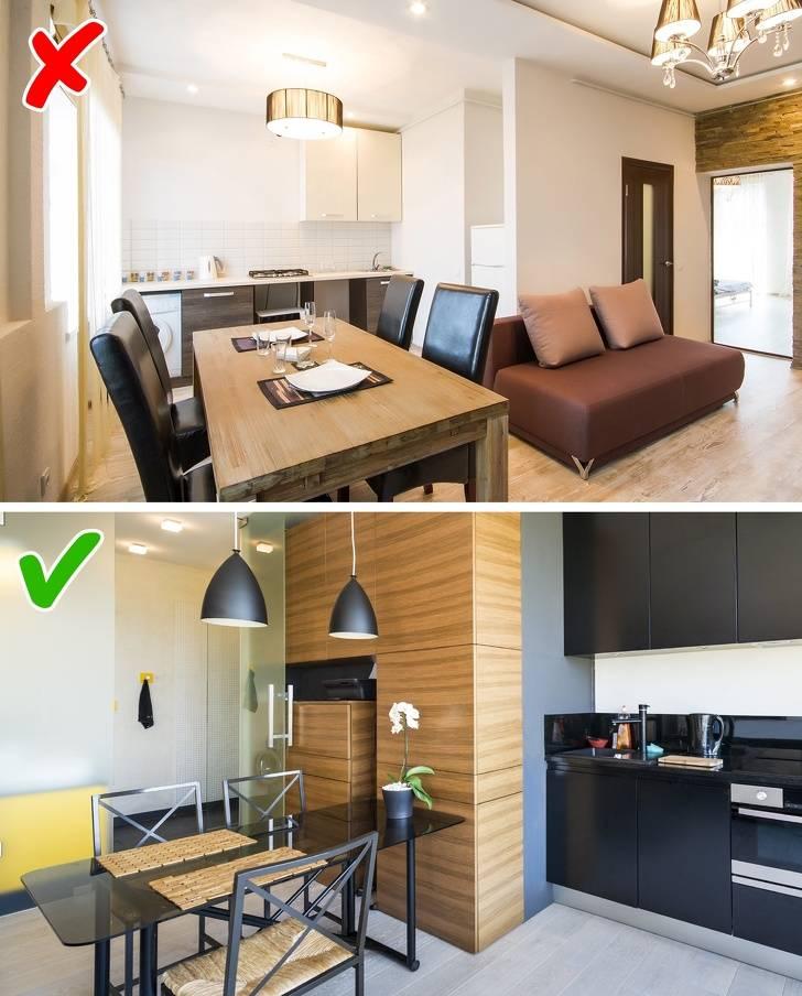 9 распространенных ошибок в дизайне маленькой квартиры