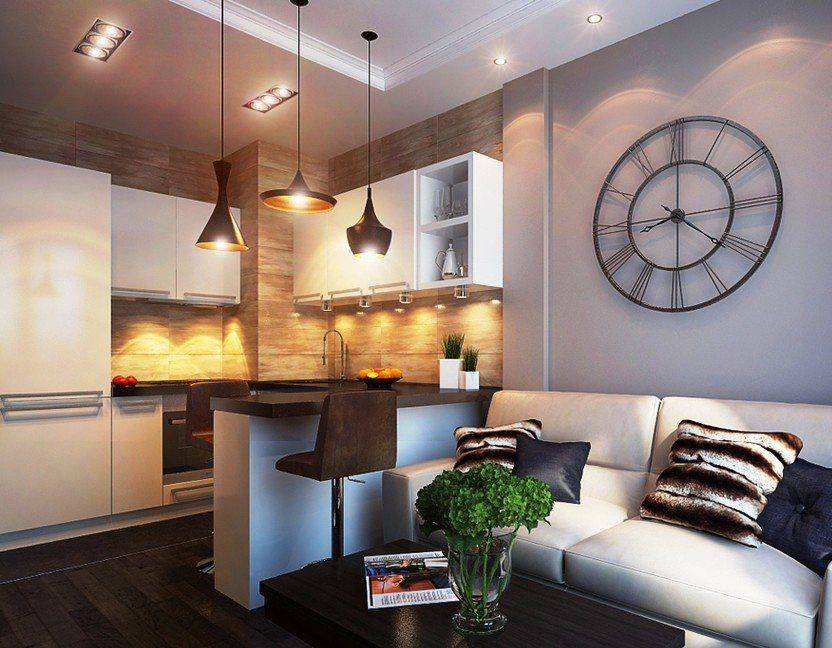 Кухня совмещенная с гостиной — советы дизайнера по планировке и зонированию, фото самых удачных интерьеров