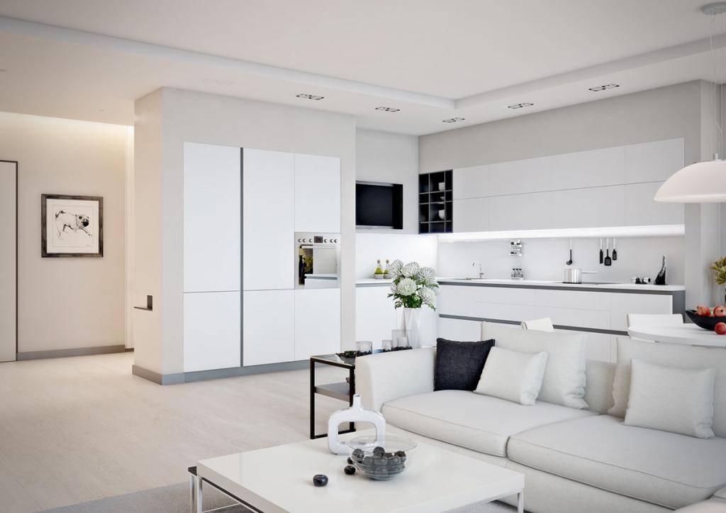 Дизайн квартиры в белом цвете: в современном стиле, с деревом, классика, в стиле лофт, минимализм, фото