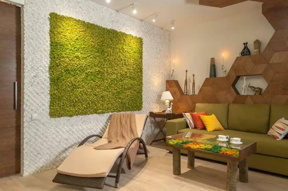 Мох в интерьере (59 фото): стабилизированный мох для квартиры и декоративный интерьерный живой мох, дизайн ванной и других комнат со мхом