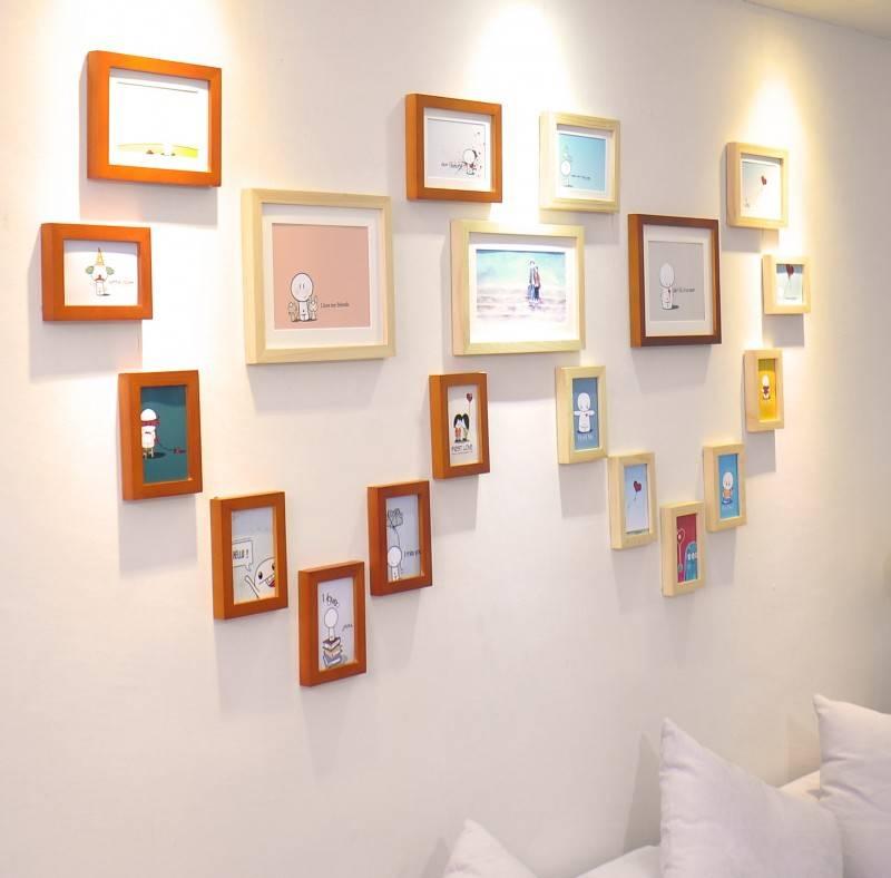 Фоторамки на стену — идеи размещения и варианты оформления стен при помощи фоторамок (115 фото и видео)