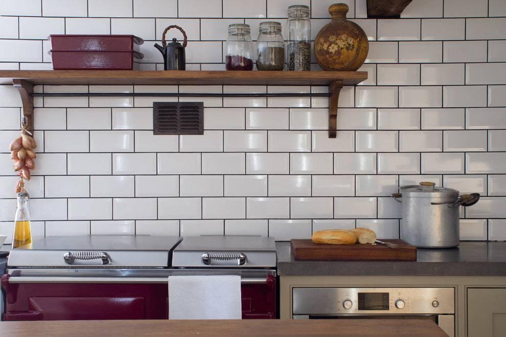 Фартук на кухню кирпичиками: материалы, выбор под стиль