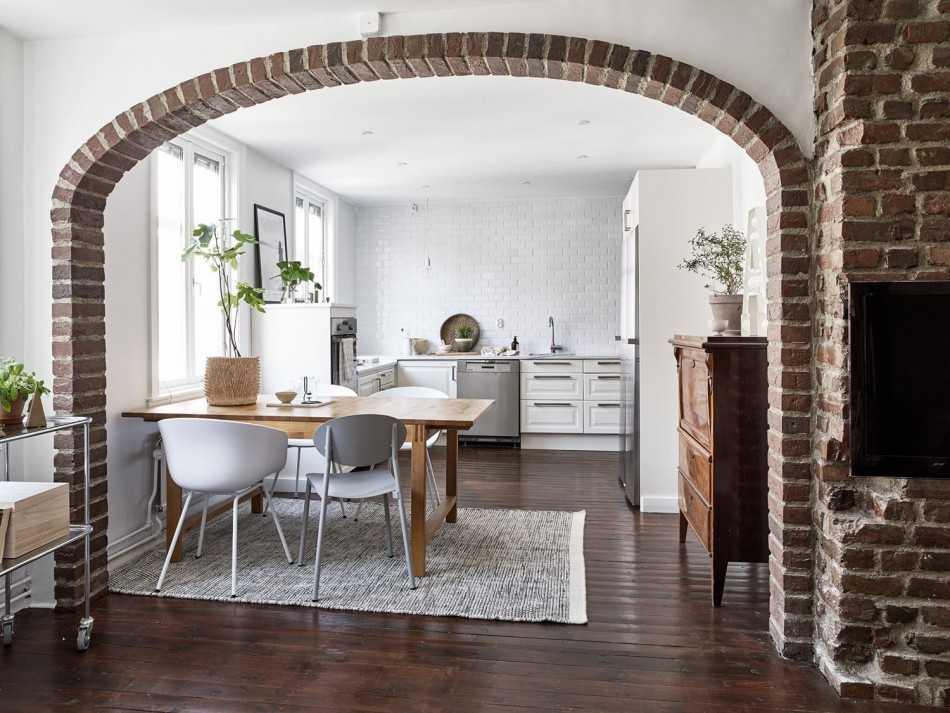 Дизайн интерьера с аркой из гипсокартона: 50 примеров с фото
