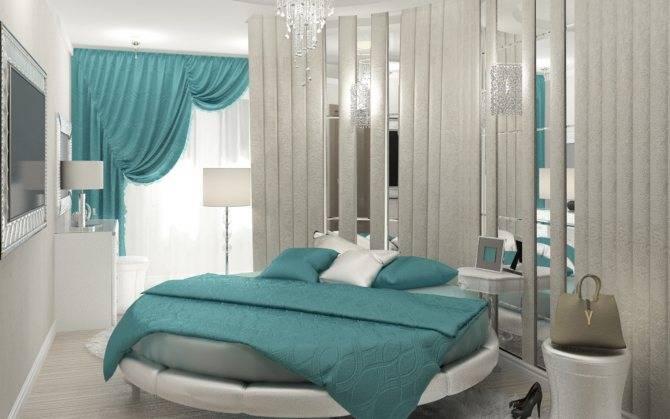 Дизайн интерьера бирюзовой спальни