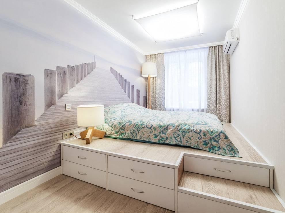 Подиум с выдвижной кроватью: преимущество, устройство и варианты размещения