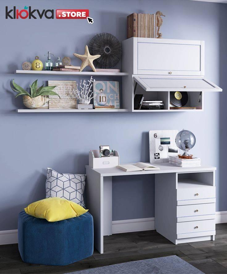 Идеи письменных столов для двоих детей в детской комнате