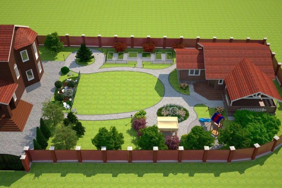 Планировка дачного участка 10 соток, схемы, варианты планировки приусадебного участка своими руками