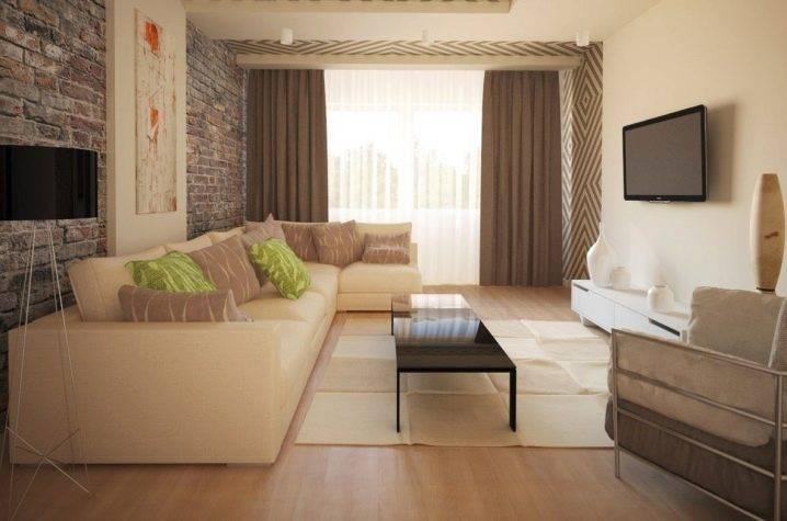 Дизайн зала площадью 18 кв. м в квартире (68 фото): интерьер комнаты, дизайн гостиной прямоугольной формы размером 18 метров