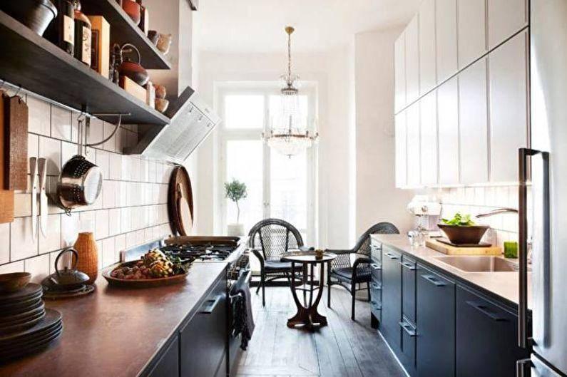 Узкая кухня — 75 фото лучших дизайнов для узкой кухни. тенденции 2020 года.