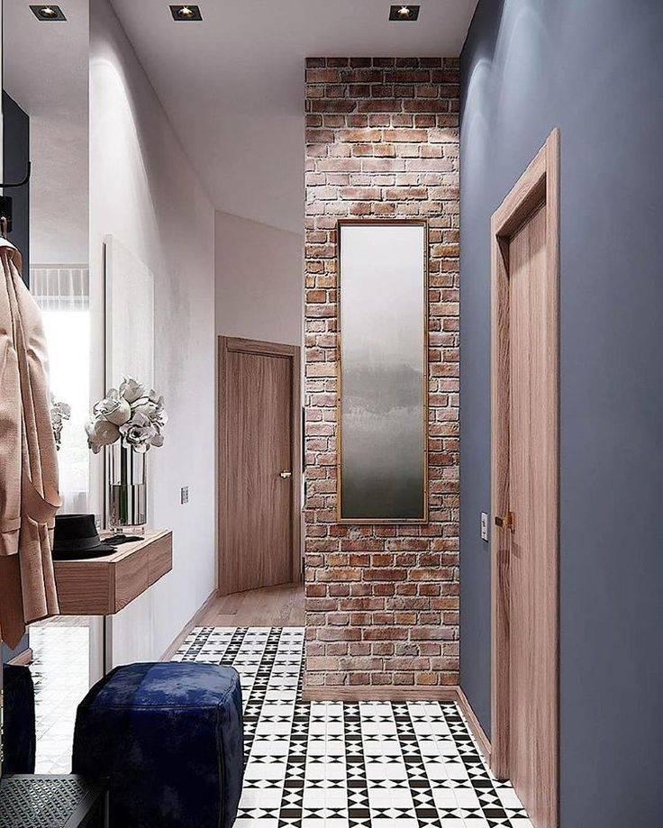 Прихожая в стиле лофт - как обустроить, идеи дизайна маленького коридора, со стеллажами в тч + фото